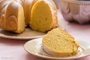 Kek Bundt Oren Lembap