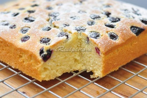 Kek Blueberry Lembut