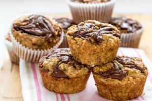 Muffin Pisang Nutella dan Oat