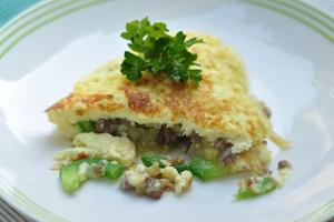 Omelette Berinti Daging